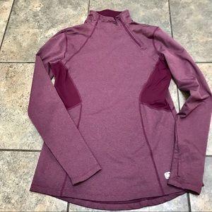 Gaiam 1/4 Zip Pullover Long Sleeve Sz Med